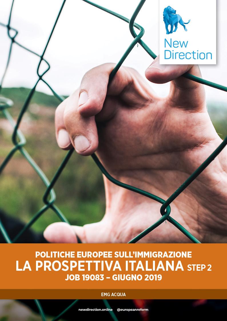 POLITICHE EUROPEE SULL'IMMIGRAZIONE LA PROSPETTIVA ITALIANA - step 2 - JOB 19083 - GIUGNO 2019